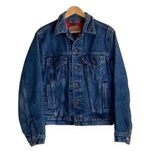 Vintage USA Levis Denim Flannel Trucker Jacket 42R
